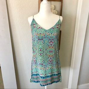 Anthropologie Green Strappy Tank Top